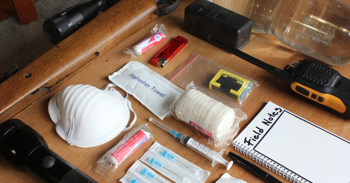 A group of items on a table
